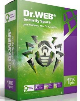 Dr. Web Security Space Версия 5.0 продление лицензии (1 ПК  1 год) (коробочная версия)