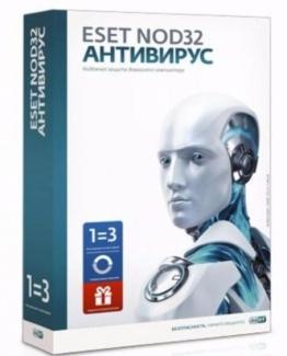 Eset NOD32 Антивирус (3 ПК  1 год) + бонус (коробочная версия)