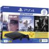 Игровая консоль SONY PlayStation 4 Slim 1ТБ, Detroit, Horizon, Одни из нас, Черный CUH-2108B
