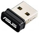 Адаптер Wi-Fi Asus USB-N10 Nano, стандарт Wi-Fi: 802.11 до 150 Мбит/с, Черный