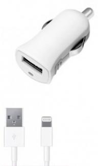 Автомобильное зарядное устройство Deppa 11250, MFI для Apple с разъемом Lightning (8-pin), Белый
