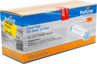 Картридж ProfiLine PL-CLT-Y406S для Samsung CLP-360/365/365W 1000 стр, Желтый