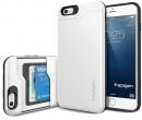 Чехол-накладка Spigen SGP для iPhone 6/6s Plus Slim Armor CS Case SGP10911, Поликарбонат/ Термополиуретан, Shimmery White, Белый
