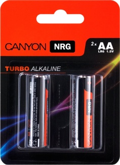 Батарейки Canyon NRG alkaline battery AA (2 штуки) S6ALKAA2