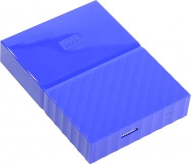 "Внешний жесткий диск Western Digital 1Tb WDBBEX0010BBL-EEUE My Passport 2.5"" USB 3.0, Синий"