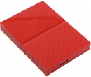 """Внешний жесткий диск Western Digital 1Tb WDBBEX0010BRD-EEUE My Passport 2.5"""" USB 3.0, Красный"""