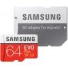 Карта памяти Samsung microSDXC 64GB EVO Plus Class 10 UHS-I + SD адаптер MB-MC64GA/RU