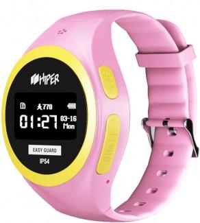 Смарт-часы HIPER EasyGuard Pink EG-01PNK, 430 мАч Розовый EG-01PNK