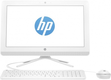 AIO HP 20 CDC J3060 4Gb 500Gb Intel HD Graphics 400 DVD(DL) 19,5 HD+ BT Cam Free DOS Белый 20-c029ur 1EE18EA