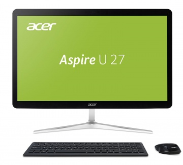 AIO Acer Aspire U27-880  i7-7500U 8Gb 2Tb Intel HD Graphics 620 27 FHD TouchScreen(MLT) BT Cam Win10 Серебристый/Черный DQ.B8RER.001