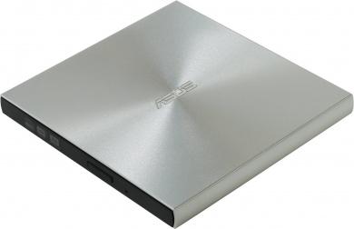 Привод оптический внешний ASUS ZenDrive DVD-RW, SDRW-08U9M-U/ SIL/ G/ AS/ P2G// ,USB, USB Type-C, Серебристый SDRW-08U9M-U/ SIL /G /AS /P2G