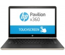 HP Pavilion x360 14 i7-8550U 8Gb 1Tb + SSD 128Gb nV GT940MX 4Gb 14 FHD IPS TouchScreen(MLT) BT Cam 4400мАч Win10 Золотистый 14-ba106ur 2PQ13EA