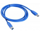 Кабель Buro USB 3.0 (AM-BM) 1.8м, Синий USB3.0-AM/BM