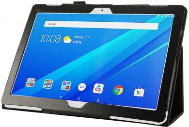 Чехол-подставка IT Baggage для планшета Lenovo Tab 3 10 / Tab 4 10, TB-X103F, Искусственная кожа, Черный ITLNT4130-1