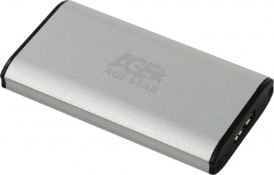 Внешний бокс для SSD mSATA 3UBMS1 Silver USB 3.0, Серебристый