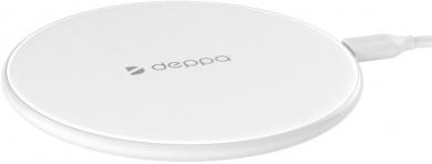 Беспроводное зарядное устройство Deppa 24001 Qi Fast Charger, 5V/1A, 9V/1.1A, Белый