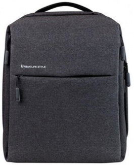 "Рюкзак 14-13"" Xiaomi Mi City Backpack Dark Grey, Полиэстер, Темно-серый ZJB4067GL"