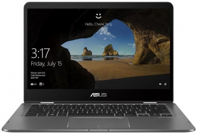 ASUS Zenbook Flip UX461UN i7-8550U 8Gb SSD 512Gb nV MX150 2Gb 14 FHD IPS TS(MLT) BT 3830мАч Win10 Серый UX461UN-E1063T 90NB0GD1-M01130