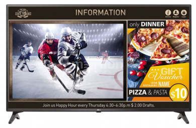 Телевизор LG 49 49LV640S LED, Full HD, Smart TV (webOS 3.5), Серебристый/Черный