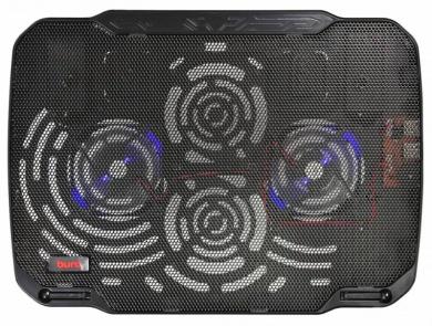 """Подставка для ноутбука Buro BU-LCP156-B208 15,6"""", Вентилятор 2x80мм, 2xUSB 2.0,  металлическая сетка, BU-LCP156-B208"""
