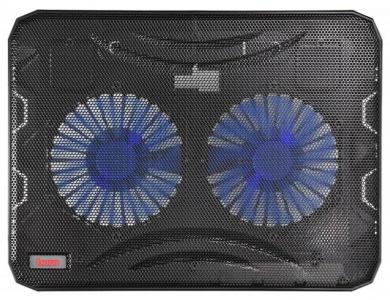 """Подставка для ноутбука Buro BU-LCP156-B214 15,6"""", Вентилятор 2x140мм, 2xUSB 2.0,  металлическая сетка, BU-LCP156-B214"""