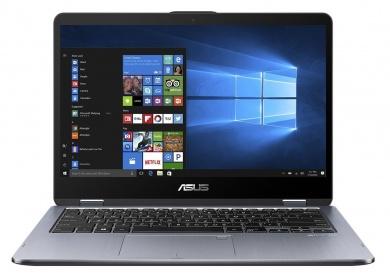 ASUS VivoBook Flip TP401CA M3-7Y30 4Gb SSD 128Gb Intel HD Graphics 615 14 FHD IPS TS BT 3830мАч Win10 Серый TP401CA-EC104T 90NB0H21-M01850
