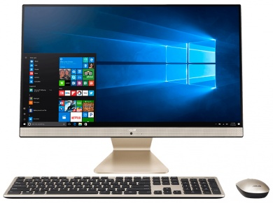AIO ASUS Vivo AiO V272UNT i7-8550U 16Gb 2Tb + SSD 256Gb nV MX150 2Gb 27 FHD (TouchScreen) Cam Win10 Черный/Золотистый V272UNT-BA013T 90PT0241-M00460