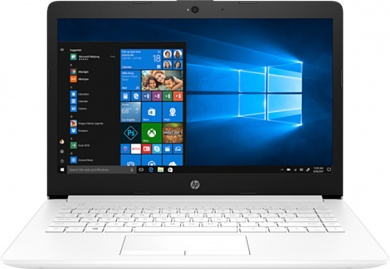 HP 14 Ryzen 5 2500U 8Gb 1Tb + SSD 128Gb AMD Radeon Vega 8 14 HD BT Cam 2670мАч Win10 Белый 14-cm0014ur 4JU85EA