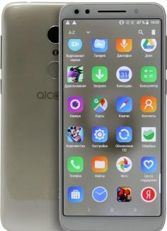 Смартфон Alcatel 3 5052D DS 5.5(1440x720)IPS LTE Cam(13/5) MT6739 1,3ГГц(4) (2/16)Гб microSD 128Гб A8.0 3000мАч Золотистый 5052D-2DALRU7