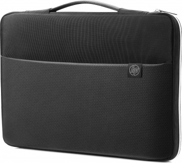 "Сумка-чехол 17,3"" HP Carry Sleeve, 3XD38AA, Синтетика, Черный/Серебристый"
