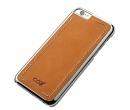 Чехол-накладка Cozistyle Leather Chrome Case для  iPhone 6/iPhone 6s, Кожа/Поликарбонат, Светло-коричневый CLCC6018