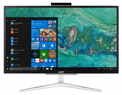 AIO Acer Aspire C22-820 CDC J4005 4Gb SSD 128Gb Intel UHD Graphics 600 21,5 FHD VA BT Cam Endless OS Серебристый DQ.BCKER.005