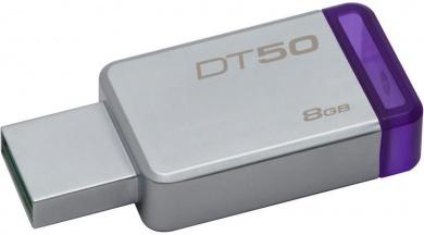 Флешка Kingston 8Gb DataTraveler 50 DT50/8GB, USB3.0, Серебристый