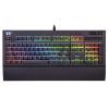 Клавиатура проводная Tt eSPORTS Premium X1 RGB Cherry MX Silver, USB Черный KB-TPX-SSBRRU-01