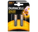 Батарейки Duracell LR03-2BL BASIC AAA 2 штуки