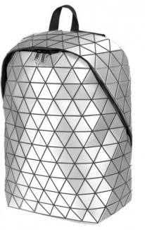 "Рюкзак 15,6"" Rombica Mybag Prisma, Полиэстер/Поливинилхлорид, Silver, Серебристый BG-FV002"