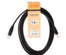 Кабель TV-COM HDMI (M) - HDMI (M) v1.4, 1.8м, Черный CG200F-1.8M