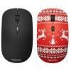 Мышь беспроводная Canyon CND-CMSW401JR, 1600dpi, Рисунок (две накладки: черный и новогоднее настроение (Red)) CND-CMSW401JR