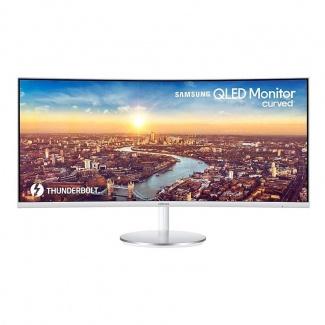 "Распродажа Монитор 34"" Samsung C34J791WTI gl.WHITE CURVED, VA, 3440x1440, 4ms, 300 cd/m2, 3000:1 (Mega DCR), HDMI, DP, USB, 7Wx2, HAS, vesa"